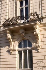 Вул. Коперника, 15. Балкон 2-го пов. на бічному ризаліті