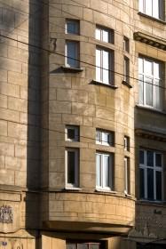 Вул. Академіка Богомольця, 2. Фрагмент еркеру на фасаді з боку вул. Франка