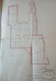 The roof construction plan