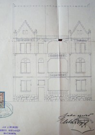 The original project of the main facade