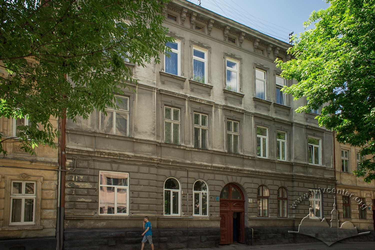 Vul. Zavodska, 36. The main facade of the building today/Photo courtesy of Olha Zarechnyuk, 2016