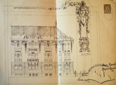 Original facade drawing