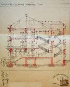 Original transverse section drawing