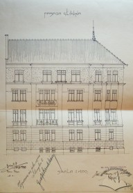 Facade drawing according to the reconstruction project of 1928