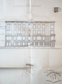 Western elevation from the original design of Jan Schulz
