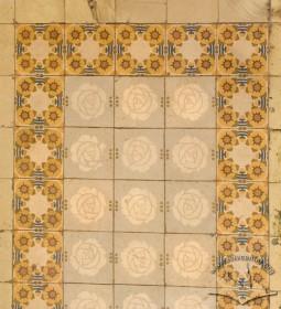 Вул. Академіка Богомольця, 11а. Сецесійна плитка на підлозі (1-ий пов.)