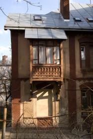 Вул. Нечуя-Левицького, 20. Фрагмент північно-західного фасаду