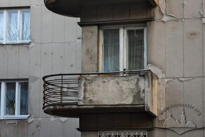 Вул. Дорошенка, 61. Балкон головного фасаду