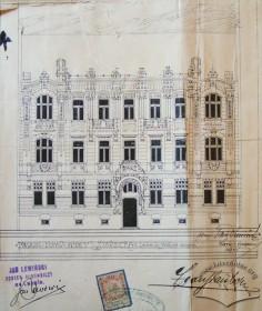 Головний фасад (оригінальний проект 1905 р.)