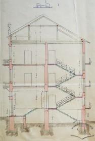 Поперечний розріз (оригінальний проект 1905 р.)