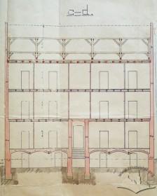 Поздовжній розріз (оригінальний проект 1905 р.)