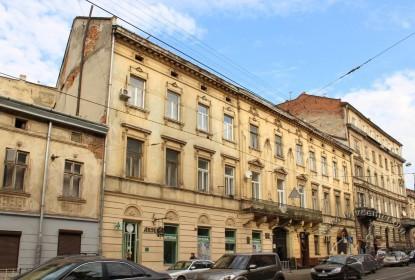Вул. Личаківська, 3. Головний фасад будинку