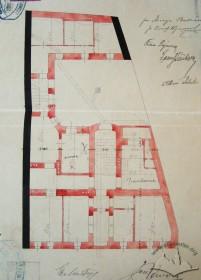 Original design drafts. Plan of the underground floor