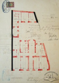 Original design drafts. Plan of the 1st floor