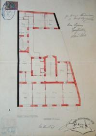 Original design drafts. Plan of the 3rd floor