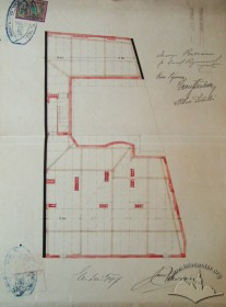 Original design drafts. Plan of the roof construction
