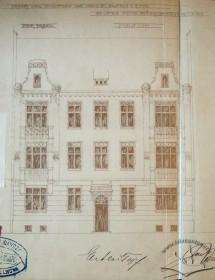The original draft of the main facade