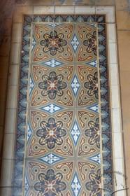 Vul. Bohomoltsia, 4. Decorative ceramic tiles on the floor (1st floor)