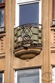 Вул. Левицького, 11а. Балкон 4-го поверху на еркері