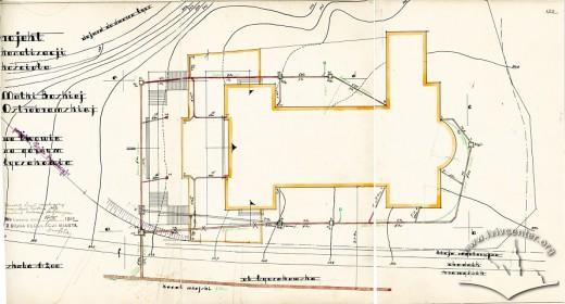 Схема підключення будівлі костелу на вул. Личаківській, 175 до каналізаційних мереж