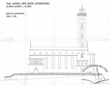 Південний фасад костелу на вул. Личаківській, 175. Адаптація проекту Тадеуша Обмінського Вавжинцем Дайчаком