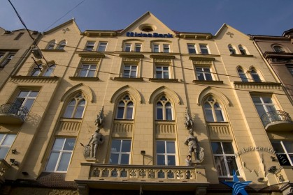 Вул. Валова, 11. Головний фасад в рівні ІІ-V-го пов.