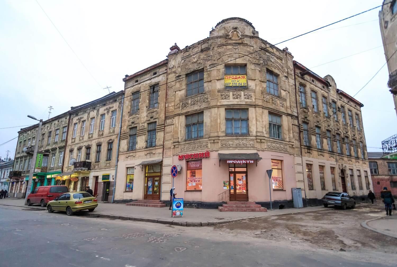 Vul. Khmelnytskoho, 169. Former Krampner's townhouse, a general view/Photo courtesy of Nazarii Parkhomyk, 2015