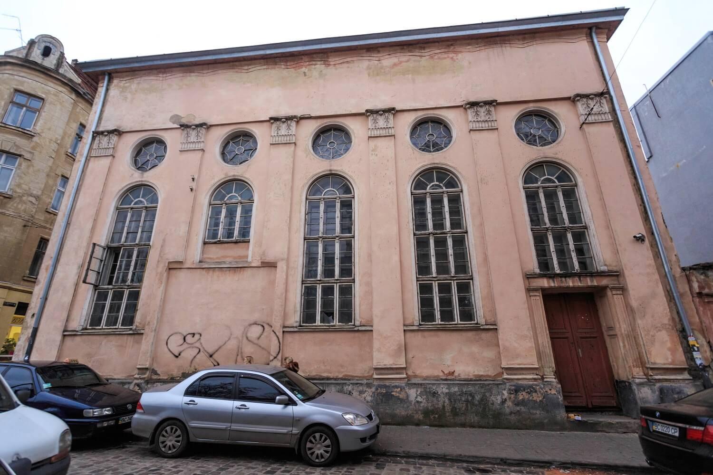 Вул. Вугільна, 1-3. Колишня синагога Якуба Ґлянцера. Північний фасад/Автор фото – Назарій Пархомик, 2015
