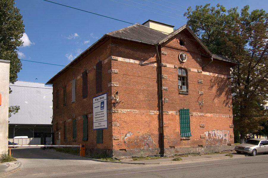 Vul. Promyslova, 52. The latest location of the city slaughterhouse. One of its buildings near the street/Photo courtesy of Ihor Zhuk, 2013