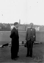 Jan Brzoza (on the right) and Ludwik Tomanek. Courtesy of: Koncern Ilustrowany Kurier Codzienny - Archiwum Ilustracji, Narodowe Archiwum Cyfrowe