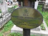 Табличка на могилі Ґабріеля Сокольницького на Брюховицькому кладовищі.